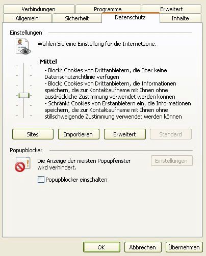 Konfiguration Router unter Windows Vista