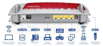 AVM FRITZ!Box 7360 Wlan Router (VDSL/ADSL, 300 Mbit/s, DECT-Basis, Media Server) - 2