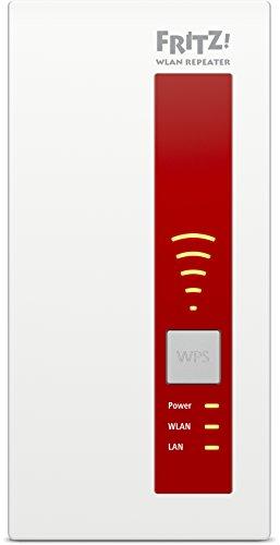 AVM FRITZ!WLAN Repeater 1750E - Dual-WLAN AC + N bis zu 1.300 MBit/s 5 GHz + 450MBit/s 2,4 GHz - 3