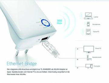 TP-Link TL-WA850RE(DE) WLAN Repeater (Deutsche Version, 300Mbit/s, WPS) weiß - 4