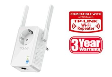 TP-Link TL-WA860RE WLAN-Repeater (300 Mbit/s, integrierter Steckdose, externen Hochleistungs-Antennen, WPS) - 2