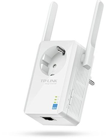 TP-Link TL-WA860RE WLAN-Repeater (300 Mbit/s, integrierter Steckdose, externen Hochleistungs-Antennen, WPS) - 1