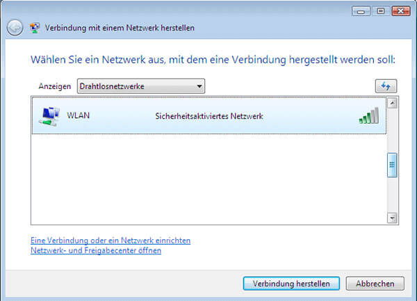 Wlan unter Windows Vista - Netvodo - Router und Technik