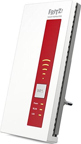 AVM FRITZ!WLAN Repeater 1750E - Dual-WLAN AC + N bis zu 1.300 MBit/s 5 GHz + 450MBit/s 2,4 GHz - 1