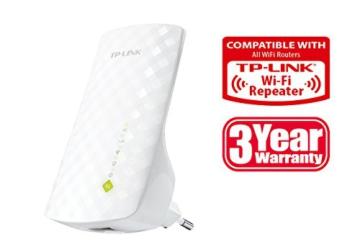 TP-Link RE200 AC750 Dualband WLAN Repeater (750Mbit/s, LAN Port, WPS), unterstützt alle 5GHz Frequenzbänder - 5